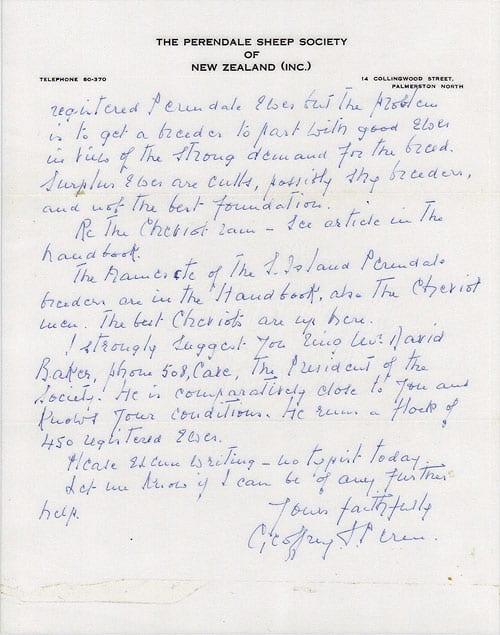 Geoffrey Peran Letter page 2