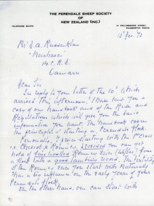 Geoffrey Peran Letter