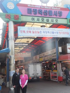 Blair and Jane - Korean Meat Market, May 2013