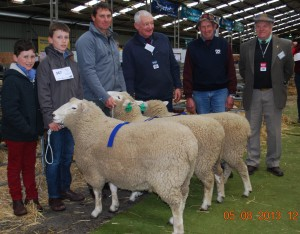 The Mount Monmot Perendales Team at 'Sheepvention', Hamilton, Victoria, August 2013
