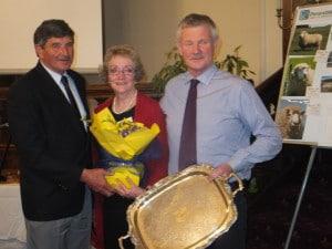 Robert Gardyne presents David and Robyn with the Struan Trophy